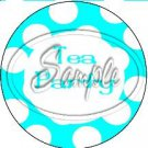 Aqua Tea Party Large Polka Dot ~ Tea Cup Cupcake Toppers ~ Set of 1 Dozen