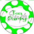 Green Tea Party Large Polka Dot ~ Tea Cup Cupcake Toppers ~ Set of 1 Dozen