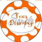 Orange Tea Party Large Polka Dot ~ Tea Cup Cupcake Toppers ~ Set of 1 Dozen