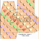 Orange Valentine's Day Conversation Heart ~ Cupcake Box ~ 1 Dozen