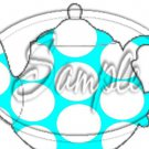 Aqua Large Polka Dot  Tea Party ~ Teapot Treat Tote