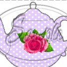 Lavender  Rose Tea Party ~ Teapot Treat Tote