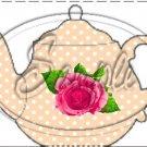 Peach Rose Tea Party ~ Teapot Treat Tote