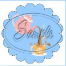 Blue Tea Party ~ Tea Cup Scallop Cupcake Toppers ~ Set of 1 Dozen