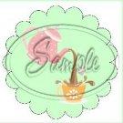 Green Tea Party ~ Tea Cup Scallop Cupcake Toppers ~ Set of 1 Dozen