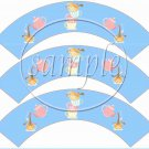 Blue Tea Party ~ Tea Cup Cupcake Wrappers ~ Set of 1 Dozen