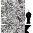Black & White Paisley Dress Shirt ~ Pinch Box DOZEN