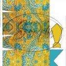 Gold & Aqua Paisley Dress Shirt  ~ Pinch Box EACH