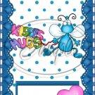 Hug Bug Aqua ~ Valentine's Day & General Love ~ MINI Candy Bar Wrappers