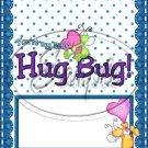 Hug Bug Aqua ~ Valentine's Day & General Love  ~ Standard 1.55 oz Candy Bar Wrapper  SOE
