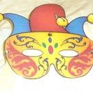 Jester Mardi Gras Mask ~ Paper Party Favors ~ 1 Dozen