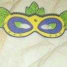 Green Yellow Blue Mardi Gras Mask ~ Paper Party Favors ~ 1 Dozen