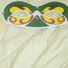 Green & Yellow Mardi Gras Mask ~ Paper Party Favors ~ 1 Dozen