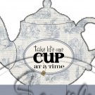 Blue Alice In Wonderland Inspired By Tea Party ~ Teapot Treat Tote