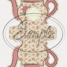 Rose Buds Tea Party ~ Teapot Treat Tote