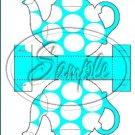 Aqua Large Polka Dot  Tea Party ~ Teapot Treat Tote ~ 1 Dozen