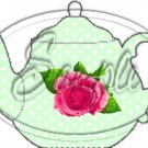 Green Rose Tea Party ~ Teapot Treat Tote ~ 1 Dozen