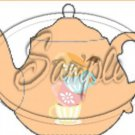 Peach Teacup Tea Party ~ Teapot Treat Tote ~ 1 Dozen