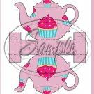Cupcake Teapot Tea Party ~ Teapot Treat Tote