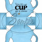 Blue Take Life One Cup At a Time Teapot  ~ Teapot Treat Tote