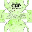 Green Floral Take Life One Cup At a Time  ~ Teapot Treat Tote ~ 1 Dozen