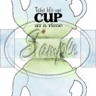 Blue & Green Take Life One Cup At a Time  ~ Teapot Treat Tote ~ 1 Dozen