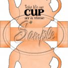Orange Take Life One Cup At a Time  ~ Teapot Treat Tote ~ 1 Dozen