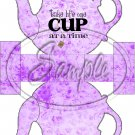 Purple Floral Take Life One Cup At a Time  ~ Teapot Treat Tote ~ 1 Dozen