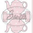Mauve Star Teapot  ~ Teapot Treat Tote