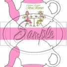 Pink Tea Time Friends Teapot  ~ Teapot Treat Tote ~ 1 Dozen