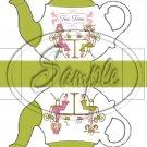 Green Tea Time Friends Teapot  ~ Teapot Treat Tote ~ 1 Dozen