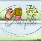 Stuck on You (Personalize it)  ~ Valentine's Day  ~ Standard 1.55 oz Candy Bar Wrapper  SOE
