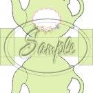 Pastel Green ~ Teapot Treat Tote ~ 1 Dozen