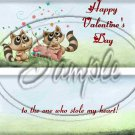Love Bandit Raccoon Happy Valentine's Day ~ Standard 1.55 oz Candy Bar Wrapper  SOE