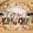 You are Sew Loved Brown Quilt  ~  Pint Glass Jar
