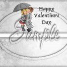 Winter Snowy Love  ~ Valentine's Day  ~ Standard 1.55 oz Candy Bar Wrapper  SOE