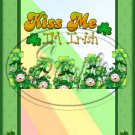 Kiss Me I'm Irish ~ St. Patrick's Day ~ MINI Candy Bar Wrappers