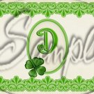 St. Patrick's Day Shamrock Letters ~  Alphabet MINI Candy Bar Wrapper