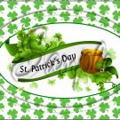 "Happy St. Patrick's Day Banner ~ Horizontal  ~ 6"" X 8"" Foil Pan Lid Cover"