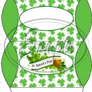 Happy St. Patrick's Day Banner Green Ends #3  ~ Set of 12 Pillow Treat Gift Box
