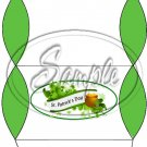 Happy St. Patrick's Day White Banner Green Ends #1  ~ Set of 12 Pillow Treat Gift Box
