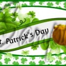 Happy St. Patrick's Day Banner  ~  Quart Glass Jar