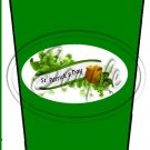 Happy St. Patrick's Day Green Banner #2 ~ Gift Card Holder Latte` Cup