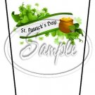 Happy St. Patrick's Day White Banner #1 ~ Gift Card Holder Latte` Cup