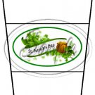 Happy St. Patrick's Day White Banner #2 ~ Gift Card Holder Latte` Cup