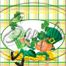 "Lazy Happy Leprechaun #2 ~ St. Patrick's Day  ~ Vertical  ~ 6"" X 8"" Foil Pan Lid Cover"