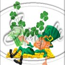 "Lazy Happy Leprechaun #4 ~ St. Patrick's Day  ~ Vertical  ~ 6"" X 8"" Foil Pan Lid Cover"