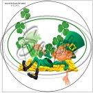 "Lazy Happy Leprechaun ~ St. Patrick's Day #3  ~ 7"" Round Foil Pan Lid Cover"