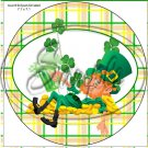 "Lazy Happy Leprechaun ~ St. Patrick's Day #6  ~ 7"" Round Foil Pan Lid Cover"