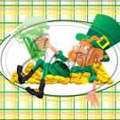 "Lazy Happy Leprechaun #1 ~ St. Patrick's Day ~ Horizontal  ~ 6"" X 8"" Foil Pan Lid Cover"